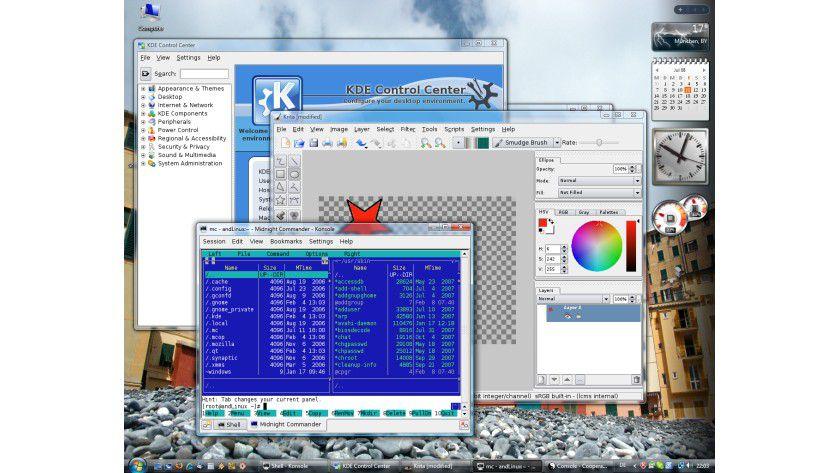 andLinux: Dabei handelt es sich um eine spezielle Linux-Distribution zur Installation unter Windows.