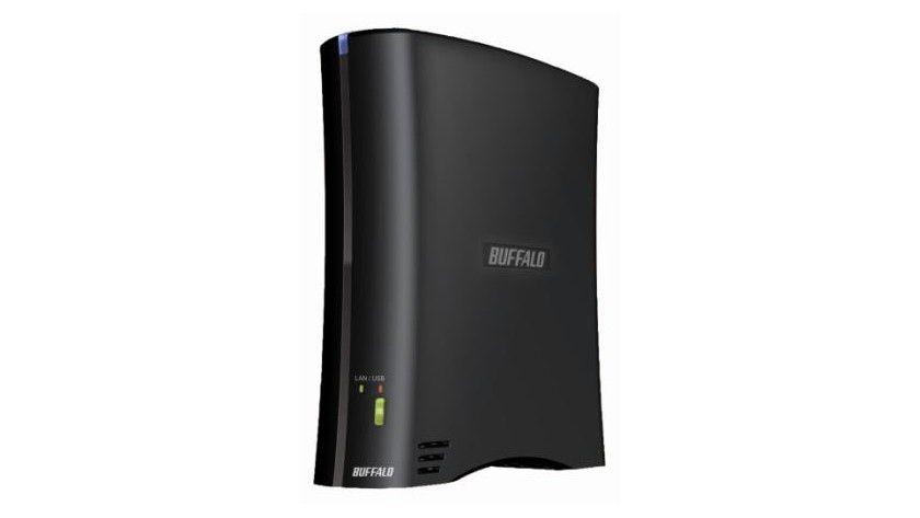Festplatten-Zwitter: Ein Schalter entscheidet bei Buffalos Drivestation 2Share über USB- oder NAS-Modus.