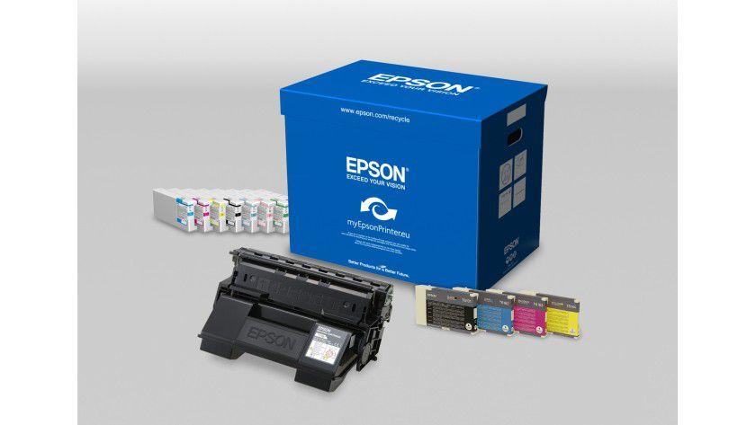 Collect & Recycle: Das Wiederverwertungsprogramm umfasst nun sämtliche Verbrauchsmaterialien von Epson. (Quelle: Epson)