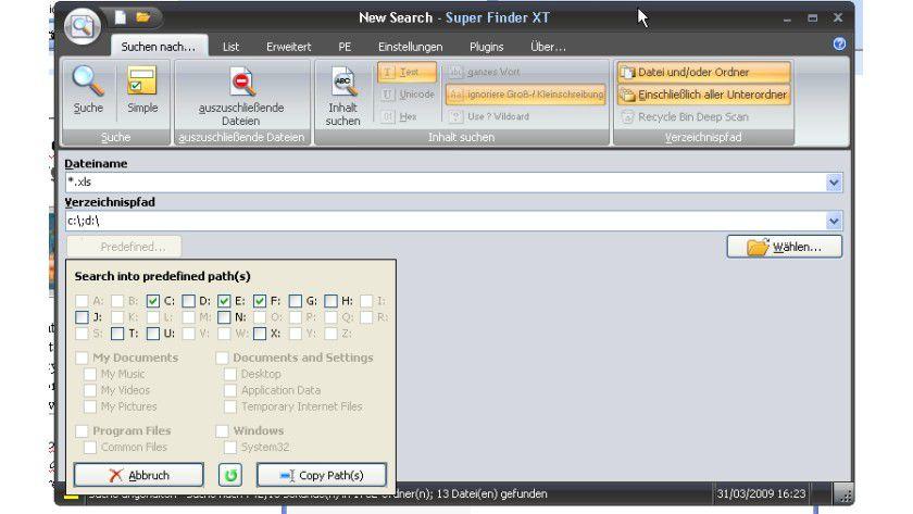 Schnelle Suche: Super Finder XT findet Dateien problemlos – auch ohne vorher einen Index aufzubauen.