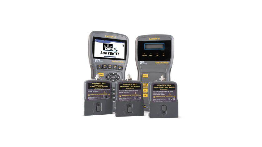 Kabel-TÜV: LanTEK II Testgeräte für die Zertifizierung von Kupfer- und Glasfasermedien.