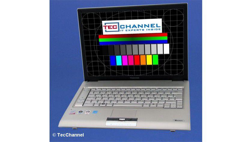 Toshiba Tecra R10: Das 14-Zoll-Display arbeitet in dieser Modellausführung mit WXGA-Auflösung (1280 x 800 Bildpunkte).