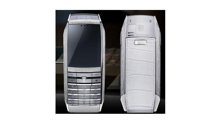 Zum Preis einer Familienkutsche: Das Handy ist auch mit Kroko-Leder und Diamantbesatz erhältlich.