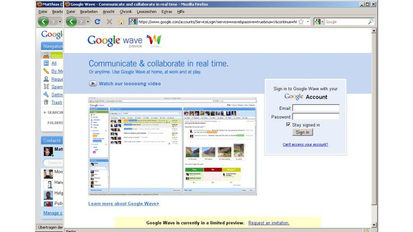 Geschlossene Gesellschaft: Derzeit ist noch eine Einladung von Google für einen Login nötig.