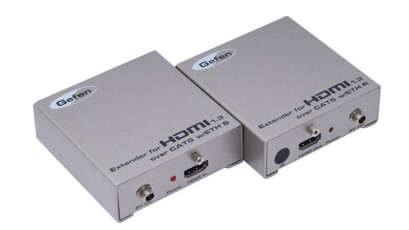 EXT-HDMI1.3-Cat5-ELR: Der Extender soll HDMI-Signale bis zu 100 Meter weit übertragen. (Quelle: Gefen)