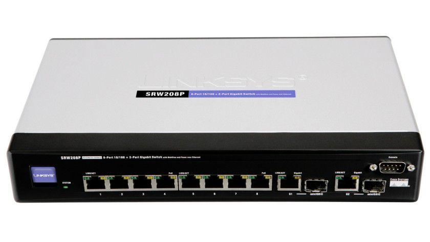 Für kleine Unternehmen entwickelt: Der SRW208P versorgt Endgeräte mit Power-over-Ethernet.