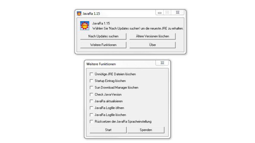 JavaRa: Das Tool hilft Ihnen, überflüssige JRE-Dateien loszuwerden.