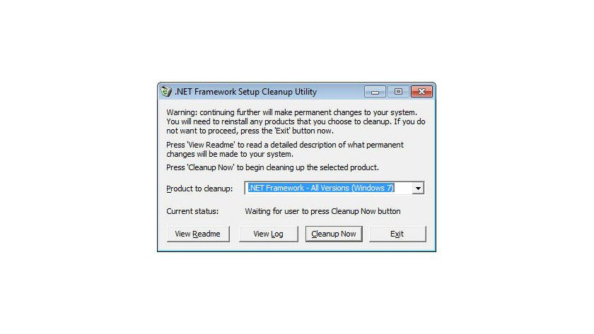 Bei .NET Framework Problemen: Funktioniert die normale Deinstallation oder ein Upgrade des Frameworks nicht, dann hilft das Tool Dotnetfx Cleanup.