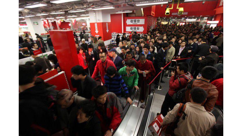 In China läuft das meiste Smartphone-Geschäft über den Handel und nicht, wie in Deutschland über die Telekommunikations-Carrier.