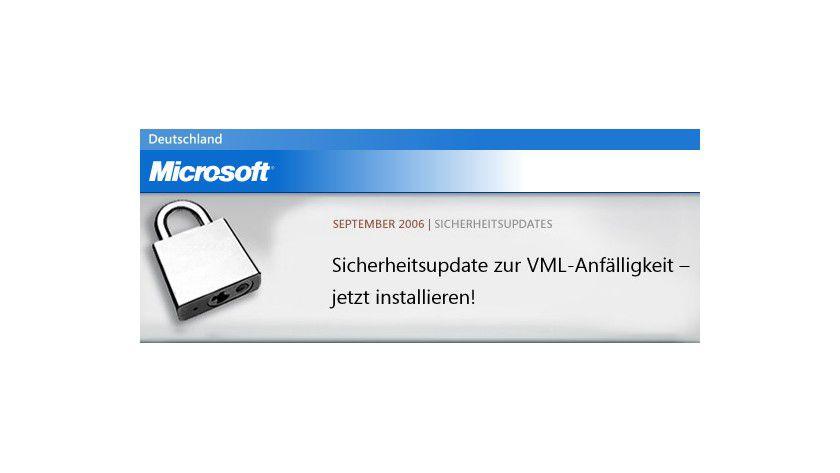 Microsoft-Update gegen VML-Anfälligkeit im IE