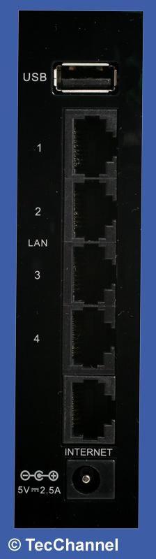 Kontakt bitte: Der WLAN-Router von D-Link verfügt nur über Standardschnittstellen - mehr nicht.